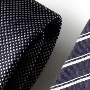 Andrew's Ties - Extralunga - Extra Long - Blu Bianco - Blue White - Dettaglio - Detail