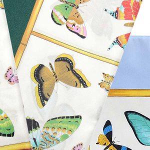 Andrew's Ties - Foulard Disegno Farfalle - Butterfly Design Foulard - Dettaglio - Detail