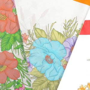 Andrew's Ties - Foulard Disegno Fiori - Flowers Design Foulard - Dettaglio - Detail