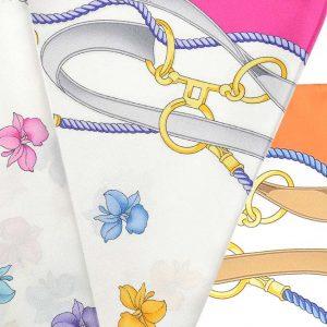 Andrew's Ties - Foulard Disegno Fiori e Staffe - Flowers and Stirrups Design Foulard - Dettaglio - Detail