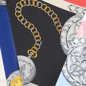 Andrew's Ties - Foulard Disegno Orologi - Watches Design Foulard - Dettaglio - Detail