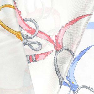 Andrew's Ties - Foulard Disegno Staffe - Stirrups Design Foulard - Dettaglio - Detail