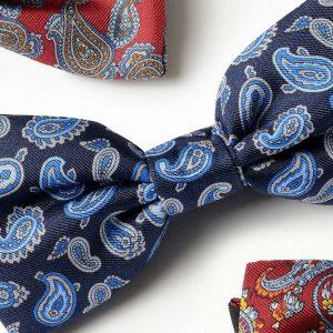 Andrew's Ties - Papillon Fantasia Disegno Cashmere - Fantasy Bow Tie Cashmere Design - Dettaglio - Detail