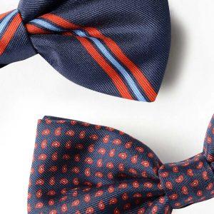 Andrew's Ties - Papillon Fantasia - - Fantasy Bow Tie - Blu Rosso - Blue Red - Dettaglio - Detail