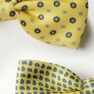 Andrew's Ties - Papillon Fantasia - Fantasy Bow Tie - Fondo Giallo - Yellow Background - Dettagio - Detail
