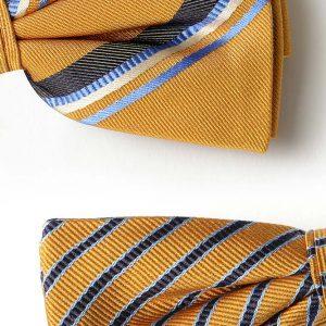 Andrew's Ties - Papillon Fantasia - Fantasy Bow Tie - Fondo Ocra - Ocher Background - Dettagio - Detail