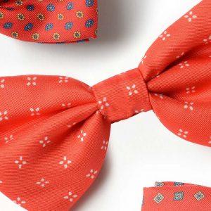 Andrew's Ties - Papillon Fantasia - Fantasy Bow Tie - Fondo Rosso - Red Background - Dettaglio - Detail