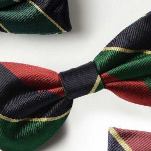Andrew's Ties - Papillon Regimental - Regimental Bow Tie - Dettaglio - Detail