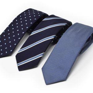 Andrew's Ties - Cravatta Fondo blu azzurro jacquard - presentazione - presentation