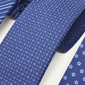 Andrew's Ties - cravatte jacquard sfondo blu chiaro - clear blue background jacquard ties - dettaglio - detail