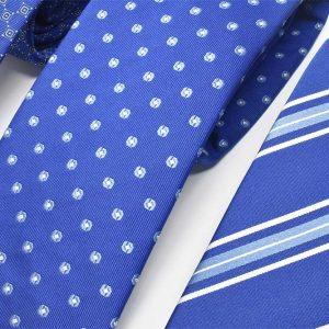 Andrew's Ties - cravatte jacquard sfondo blu elettrico - dettaglio - detail