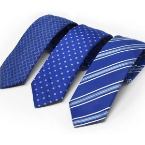 Andrew's Ties - cravatte jacquard sfondo blu elettrico - presentazione - presentation