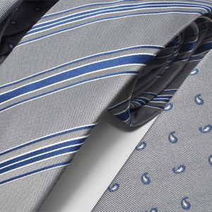 Andrew's Ties - cravatte sfondo grigio jacquard - grey background jacquard ties - dettaglio - detail