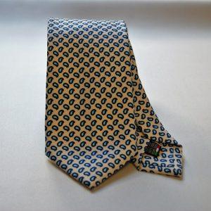 Cravatta Collection - bianco - disegno a goccia - COD.N005 - 100% seta