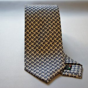 Collection ties - white - Drop design - COD.N006 - silk 100%