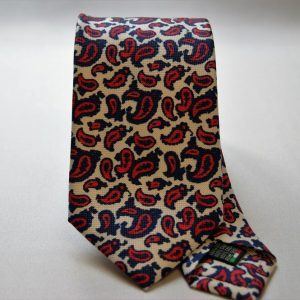 Cravatta collection - bianco - disegno cashmere - COD.N021 - seta 100%