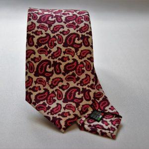 Cravatta collection - bianco - disegno cashmere - COD.N022 - seta 100%