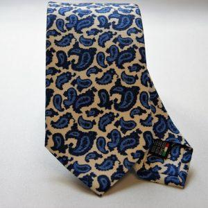 Cravatta collection - bianco - disegno cashmere - COD.N023 - seta 100%