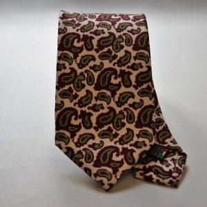 Cravatta collection - bianco - disegno cashmere - COD.N024 - seta 100%