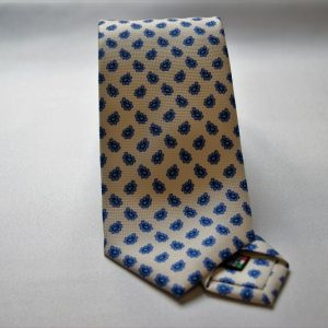 Collection ties - white - design Fantasy - COD.N002 - silk 100%