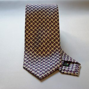 Collection ties - white - design Fantasy - COD.N004 - silk 100%