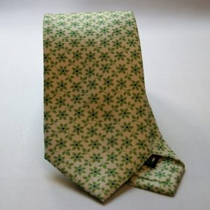 Collection ties - white - flowers design - COD.N018 - silk 100%