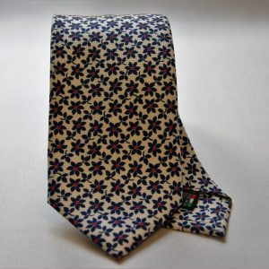 Collection ties - white - flowers design - COD.N019 - silk 100%