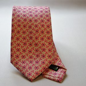 Collection ties - white - flowers design - COD.N020 - silk 100%