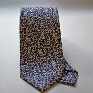 Collection ties - white - little flower design - COD.N012 - silk 100%