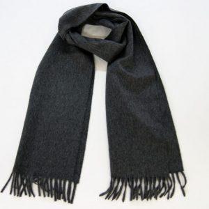 Sciarpa cashmere- 185 x 35 cm. - 100% cashmere - grigio - COD.NSC001 - made in Italy