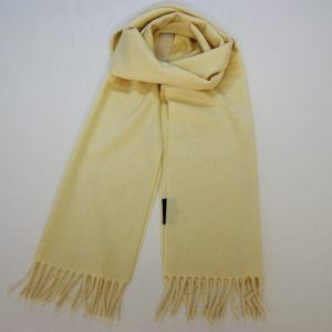 Cashmere scarf - 185 x 35 cm. - 100% cashmere - cream - COD.NSC003 - made in Italy