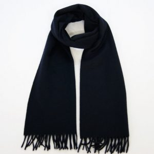 Cashmere scarf - 185x35 - 100% cashmere - blue - COD.NSC002 - made in Italy
