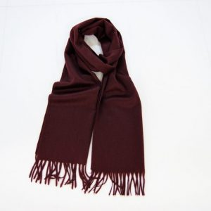 Cashmere scarf -185x35 cm. - 100% cashmere - bordeaux - COD.NSC006 - made in Italy