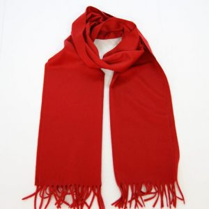 Cashmere scarf - 185x35 cm. - 100% cashmere - red - COD.NSC005 - made in Italy
