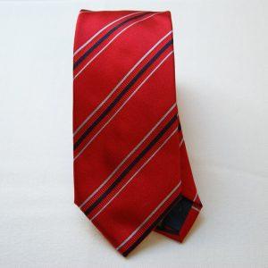 Jacquard ties - color story red - big stripes - COD.N031 - silk 100%