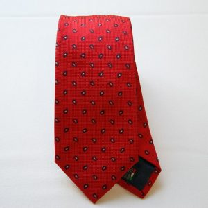 Jacquard ties - color story red - cashmere design - COD.N033 - silk 100%