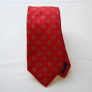 Jacquard ties - color story red - flower design - COD.N034 - silk 100%