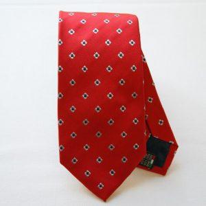 Jacquard ties - color story red - flower design - COD.N035 - silk 100%