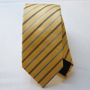Cravatta jacquard - color story giallo - riga piccola - COD.N026 - seta 100%