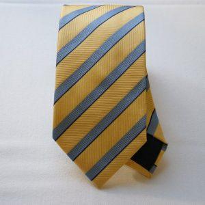 Jacquard ties - color story yellow - big stripes - COD.N025 - silk 100%