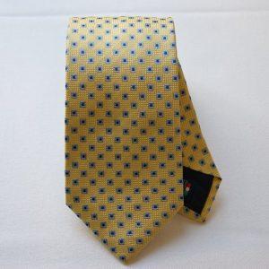Cravatta Jacquard - color story giallo - disegno classico -COD.N029 - seta 100%
