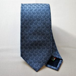 Jacquard ties - elephant - light blue background - COD.N050 - 100% silk - made in Italy