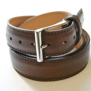 Leather belt brown - leather 100% - cm.3,5 - made in Italy - COD.CPN003