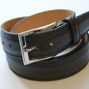 Leather belt dark brown - leather 100% - cm.3,5 - made in Italy - COD.CPN005
