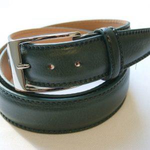 Cintura pelle verde - pelle 100% - cm.3,5 - made in Italy - COD.CPN001