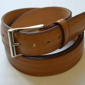 Leather belt mustard - leather 100% - cm.3,5 - made in Italy - COD.CPN004