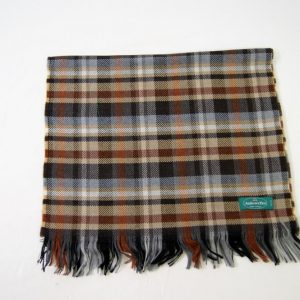 Wool scarf - 190x37 cm - brown background - 100% wool - COD.NSL005 - made in Italy 2
