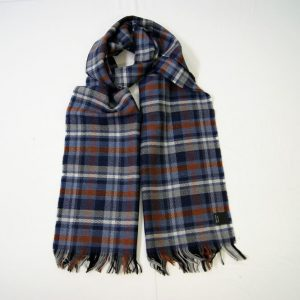 Sciarpa Lana - cm.190x37 - fondo grigio - lana 100% - COD.NSL007 - made in Italy