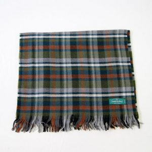 Wool scarf - 190x37 cm - green background - 100% wool - COD.NSL004 - made in Italy 2