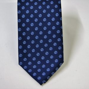 Twill ties - printed silk - classic designs - blue background - COD.N064 - 100% SILK - made in Italy 2